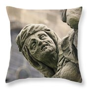 Baroque Statue Depicting Avarice Throw Pillow