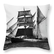 Barquentine, 1871 Throw Pillow