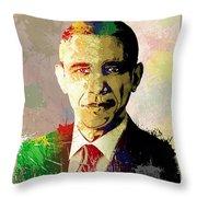Barrack Obama Throw Pillow