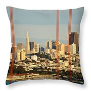 Barred City Throw Pillow