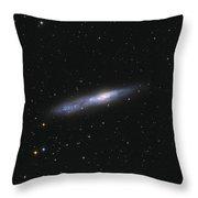 Barred Spiral Galaxy Ngc 55 Throw Pillow