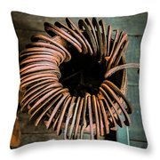 Barrel Of Horseshoes Throw Pillow