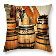 Barrels  Throw Pillow by Marty Koch