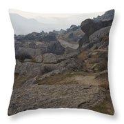 Barren Landscape South Of Qobustan Throw Pillow