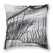 Abstract Trees On Barren Landscape Throw Pillow