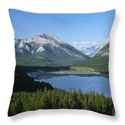 Barrier Lake Throw Pillow