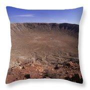 Barringer Crater, Fisheye View Throw Pillow