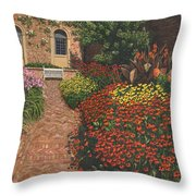 Barrington Court Gardens Somerset Throw Pillow