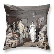 Barroom Dancing, C1820 Throw Pillow