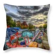 Barrow Boats Throw Pillow