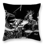 Barry Alexander Drumming For Johnny Lang Throw Pillow