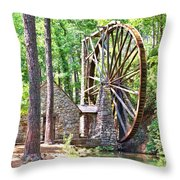 Berry College's Old Mill - Square Throw Pillow