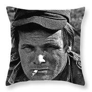Barry Sadler The Green Berets Homage 1968 Tucson Arizona 1971-2008 Throw Pillow