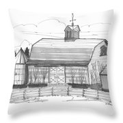 Barrytown Barn Throw Pillow