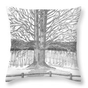 Barrytown Tree Throw Pillow