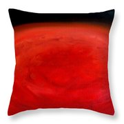 Barsoom Mars The Red Planet Throw Pillow
