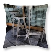 Barstools - Before The Night Begins Throw Pillow
