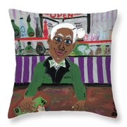 Bartender At The Country Club Throw Pillow