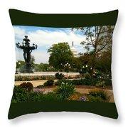 Bartholdi Fountain Throw Pillow