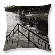 Barton Springs Pool In Austin Throw Pillow