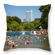 Barton Springs Pool Throw Pillow