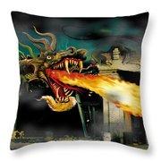 Barton The Mutant Salamander Throw Pillow