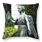 Barzaghi Memorial Side View II Detail Monumental Cemetery Throw Pillow