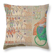 Bas-relief At Medynet-abou, Palace Throw Pillow