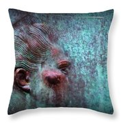 Bas Relief Profile Of Female Head Throw Pillow