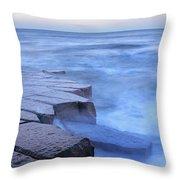 Basalt Rock, Berwick Upon Tweed Throw Pillow