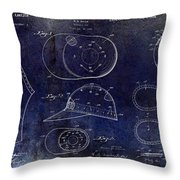 Baseball Patent Blue Throw Pillow