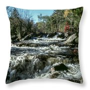 Base Of Ragged Falls Throw Pillow