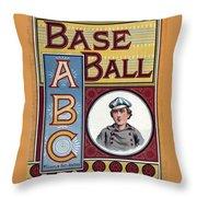Baseball Abc Throw Pillow by McLoughlin Bros