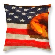 Baseball An American Pastime Throw Pillow