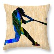 Baseball Art Throw Pillow