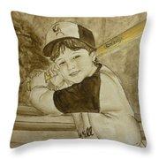 Baseball At It's Best Throw Pillow