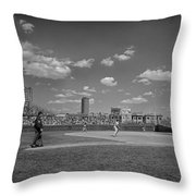 Baseball At Wrigley In The 1990s Throw Pillow