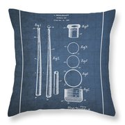 Baseball Bat By Lloyd Middlekauff - Vintage Patent Blueprint Throw Pillow