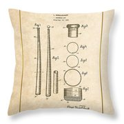 Baseball Bat By Lloyd Middlekauff - Vintage Patent Document Throw Pillow