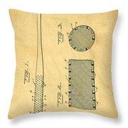 Baseball Bat Patent Throw Pillow