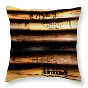 Baseball Bats Throw Pillow