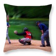Baseball Batter Up Throw Pillow