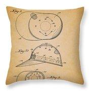 Baseball Cap Patent 1955 Throw Pillow