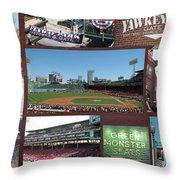 Baseball Collage Throw Pillow