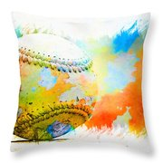 Baseball- Colors- Isolated Throw Pillow