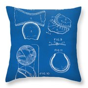 Baseball Construction Patent 2 - Blueprint Throw Pillow