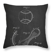 Baseball Cover Patent Drawing From 1923 Throw Pillow