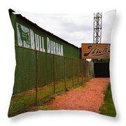 Baseball Field Bull Durham Sign Throw Pillow