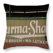 Baseball Field Burma Shave Sign Throw Pillow