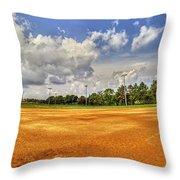 Baseball Field Throw Pillow